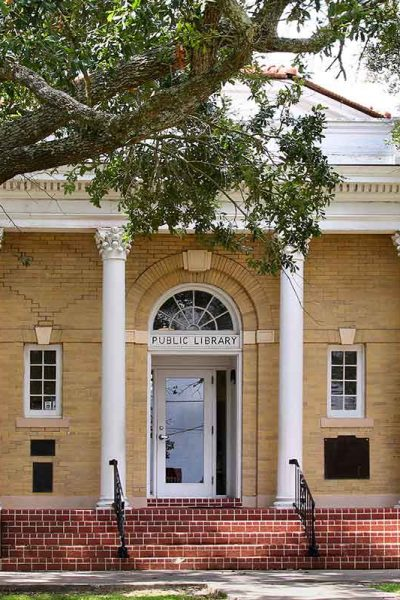 Front of Carnegie Library